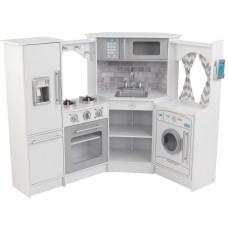 """Детская кухня Kidkraft """"Интерактив белая"""" угловая"""